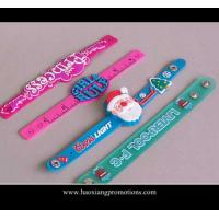 China Best quality top selling newest fashion design silicone slap wristband for kids' toys wholesale