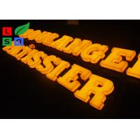 China 3D Logo LED Light Up Letters , Solid Arylic Illuminated Channel Letters For Shop Front Signage wholesale