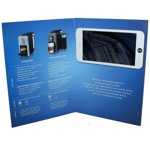 China Free Sample Limited 4.3 inch 1GB Skilful CMYK printing video invitation card video brochure with 1000mah LI-battery wholesale