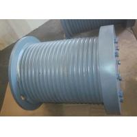 China Marine Hydraulic Winch Drum Durable With Rope Groove / Rope Inlet wholesale