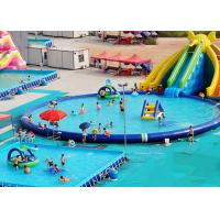 China UV Resistance Commercial Inflatable Water Parks With Swimming Pool on sale