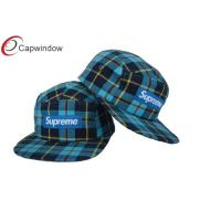 China Golf Tartan Ripstop Wool Baseball Caps Custom Strapback Hats wholesale