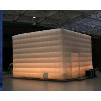 China 6x6mm PVC White Inflatable Construction Cube Tent,Inflatable Structure wholesale