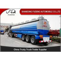 China Crude Oil Tank Semi Trailer Fuel / petroleum 50000 liters Steel Petro Tanker Semi Trailer wholesale
