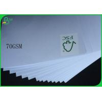 China FSC Uncoated And Virgin Pulp Style High White 70gsm White Wood Free Paper wholesale