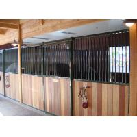 Buy cheap Horse Riding Club Prefab Horse Stalls , Powder Coated Metal Horse Stalls from wholesalers