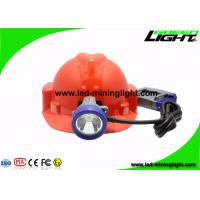 China Shock Resistant Miners Cap Lamp 10000 Lux With Cable 1.4m / 1.6m wholesale