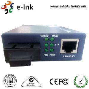 China Gigabit Ethernet POE Fiber Optic Media Converter For POE IP Camera Single Mode wholesale