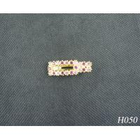 China Alloy Copper Jeweled Hair Accessories Fashion Plated Gold Hairpin for Gift 20g wholesale