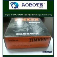 China Timken Tapered Roller Bearing , OEM service offered long life products H913849 / H913810 wholesale