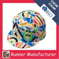 Wholesale Floral Hot-sale Short Brim Snapback Hat from china suppliers