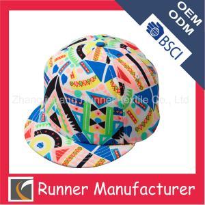 China Floral Hot-sale Short Brim Snapback Hat wholesale