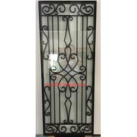 China cheap price wrought iron glass of 10*10 MM black steel bar wholesale