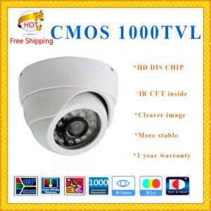 Quality HD 1000TVL Color CMOS camera with IR-CUT plastic Dome security Camera 24 IR for sale