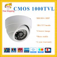 Buy cheap HD 1000TVL Color CMOS camera with IR-CUT plastic Dome security Camera 24 IR indoor outdoor camera CCTV Camera from wholesalers