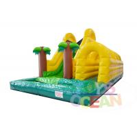 China Forest Theme Inflatable Water Slide , Inflatable Slip N Slide For Kids Fun wholesale
