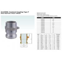 Quality Aluminum cam groove coupling type A with BSP or NPT thread in gravity casting or die casting for sale