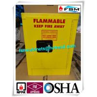 China Metal Chemical Storage Cabinets , Dangerous Goods Cabinets For Flammable Liquid wholesale