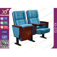 China Attractive Durable Metal Feet Auditorium Theater Seating With Flat Writing Pad wholesale
