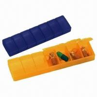 China Plastic Pillboxes with Braille, Non-poisonous Material wholesale