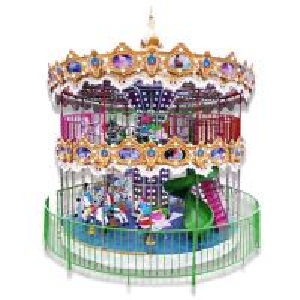 China 24 Seats Amusement Park Carousel Fiberglass Double Decker Carousel wholesale