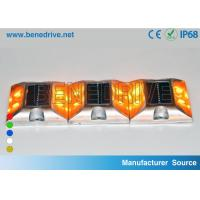 China Square Solar Barricade Lights Aluminum Alloy Housing Double Sides LED Flashing With Reflectors wholesale