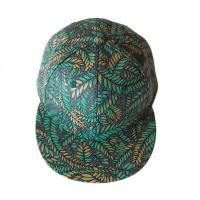 Quality Green Leaves Printing Hip Hop Baseball Caps Adjusteble With 3D Embroidered for sale