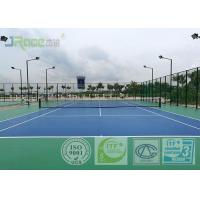 China Water Resistant Sport Court Flooring , Artificial Tennis Court Surfaces on sale