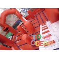 Quality Red 0.55mm PVC Inflatable Bouncer Combo Doll House Inflatable Bouncy Castle for sale