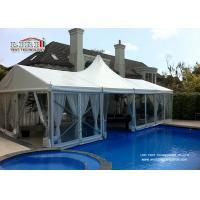 China Aluminum Waterproof Retardant PVC Cover High Peak Tents For Hotel / Catering wholesale