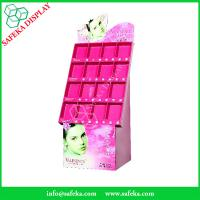 China Custom printed Promotion Rack Supermarket advertising shelf Cardboard cosmetic display with pockets wholesale
