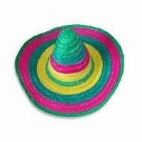China Mexican Hat, Made of Natural Bamboo Grass, Available in Various Designs wholesale