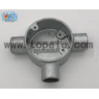 China Aluminum / Malleable Iron BS4568 Conduit Three Way Junction Box Long Life Time wholesale