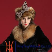 China Polyester Russian Fur Hats Handmade Faux Fur Hat For Lady In Winter on sale