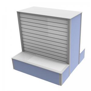 China Retail Shop Custom Tradeshow Booth Metal Material Slatwall Panel Display Rack wholesale