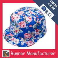 China Fashionable Floral Snapback Hat for Girls wholesale