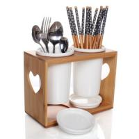 China China Bamboo Utensil Holder Spoon Holder with good quality wholesale