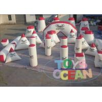 China Extremely Funny Outdoor Inflatable Paintball Bunkers 30 Pieces 0.9mm PVC wholesale