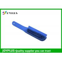 China Customized Color Rubber Dog Brush , Dog Cat Cleaning Brush TPR Material PC0330 wholesale