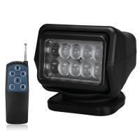 China 4000 Lumens Waterproof LED Search Light Rotating Remote Control 12v / 24v wholesale