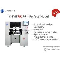 Buy cheap New Charmhigh CHMT761P6 Perfect Model, Auto Rails, Ball screw, Auto Nozzle change, 6 Heads 60 Feeders from wholesalers