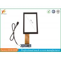 China White 7 Inch Capacitive Touch Panel With AG / AR / AF Glass , Intelligent Automatic Calibration on sale