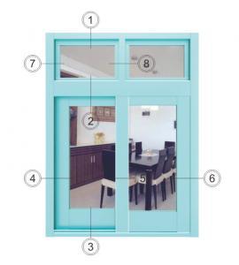 China Horizontal Interior Aluminium Sliding Windows Soundproof With Forested Glass wholesale
