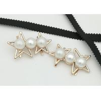 China Star Shaped Zinc Alloy Metal Shoe Buckles Corrosion Resistant Easy To Put On wholesale