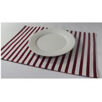 China 100% Cotton Red And White Striped Placemats Dining Room Table Mats 250gsm wholesale