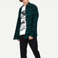 China New Collection Long Sleeve Plaid Oversozed Shirts for Men on sale