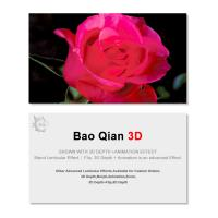 China 0.6mm Thickness 89x68mm 3D Lenticular Card 3D Flip Changing Effect wholesale