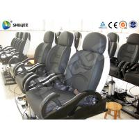 China Fiberglass Electronic 5D Movie Theater Motion Chair Genuine Leather With Spray Air wholesale