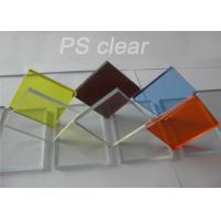 China Indoor Clear Polystryrene Plastic Sign Board Heat / Electronically Resistant wholesale