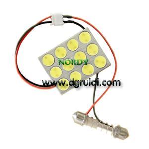 China Led dome led light interior reading bulb led 12pcs 0.5W high power LED 6W car top lighting Wedge Festoon BA9S wholesale